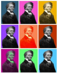Pop art image of Frederick Douglass
